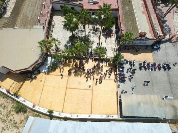 Restaurante Casamar - Terraza Salón Europa desde el aire